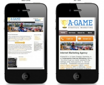 AGameSM Desktop vs. Mobile Site