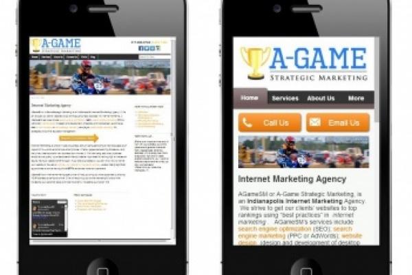 AGameSM Desktop vs. Mobile Site